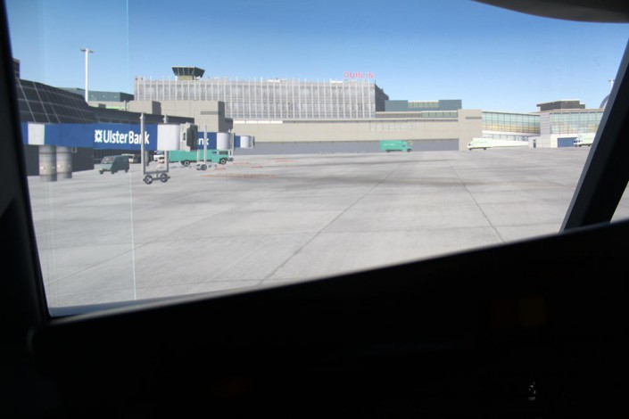Our 737 simulator in Dublin airport Prepare for your Ryanair simcheck