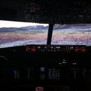 Salzburg Rwy15 in the 737 flight simulator, Dublin